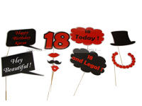 Photo Booth Props - 18th Birthday Party Supplies