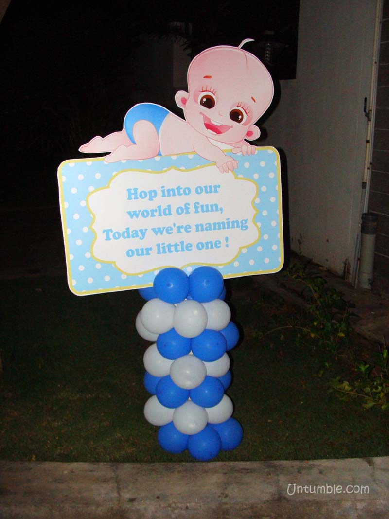 Welcome banner baby boy for Baby name decoration ideas