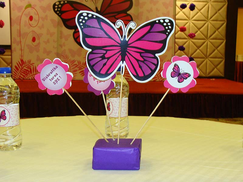 Dark pink and purple butterfly centerpiece  Pink Butterfly Birthday ...