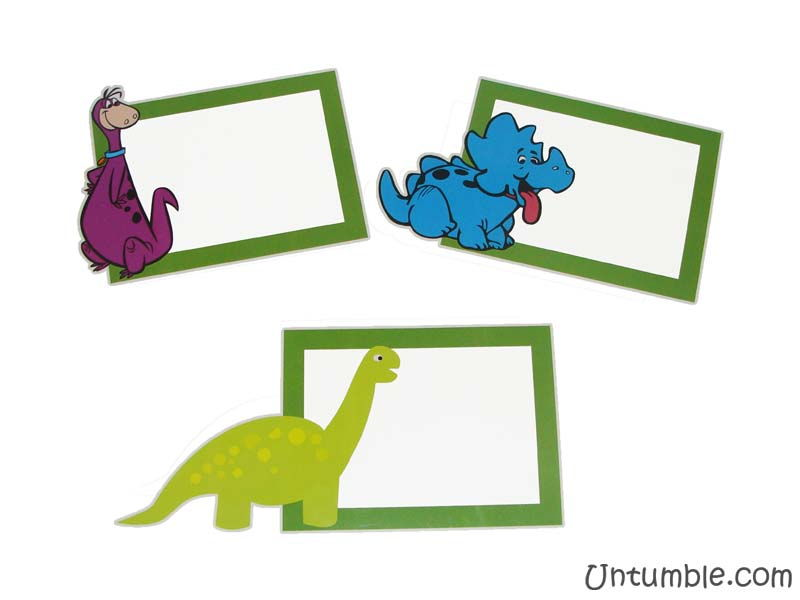 dinosaur theme food labels untumble com