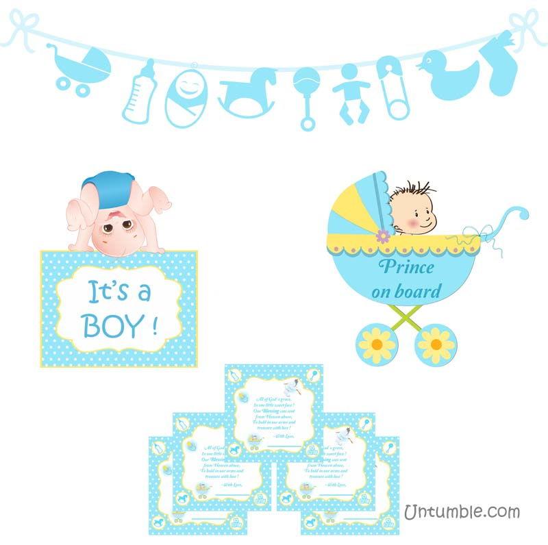 theme baby boy announcement kit untumble com