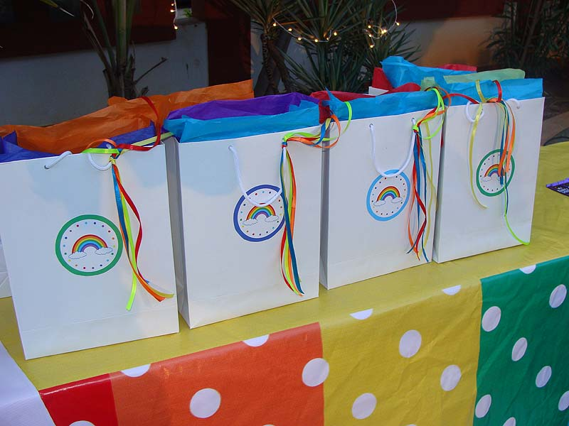 Rainbow Theme Stickered Gift Bags