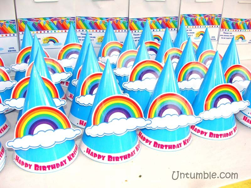 Rainbow Theme Hats With 3D And Cloud