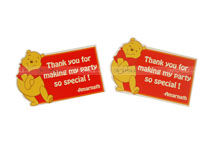 Thank you cards - Winnie The Pooh Theme Birthday Party