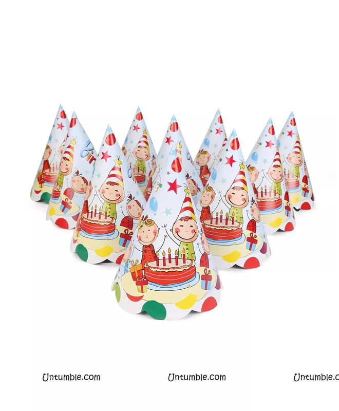 40th Birthday Theme Party Hats Set Of 10