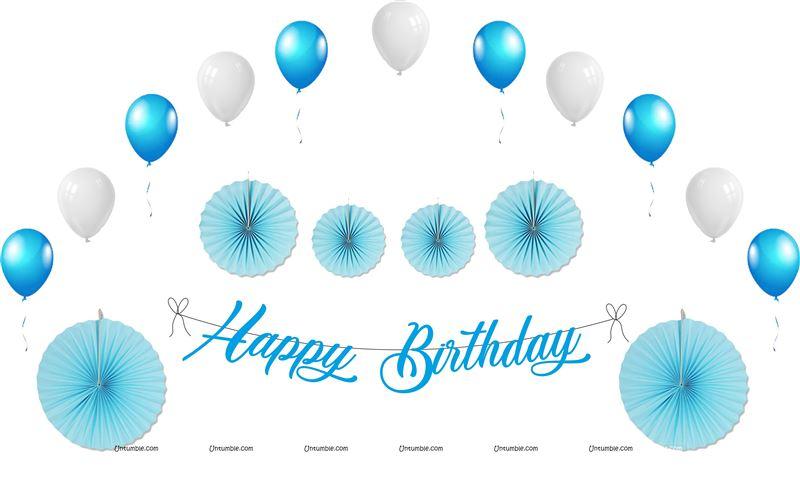 4677740ffc811 Maternity Props theme Blue Birthday Decoration Kit (Pack of 27 pcs )