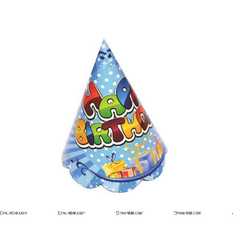 40th Birthday Theme Generic Happy Party Hats Set Of 10