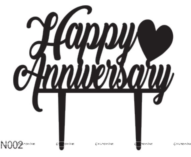Happy Anniversary Letter Cake Topper Acrylic Xmas Party Cake Decoration TO