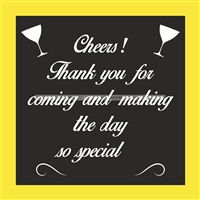 Thank you cards - 50th birthday party supplies