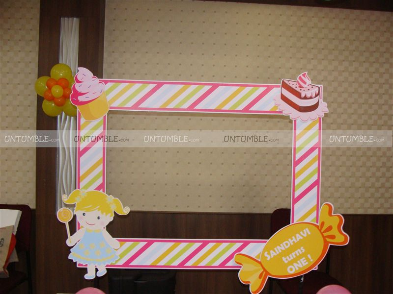 Candy Land theme Photo Booth Frame - Untumble.com