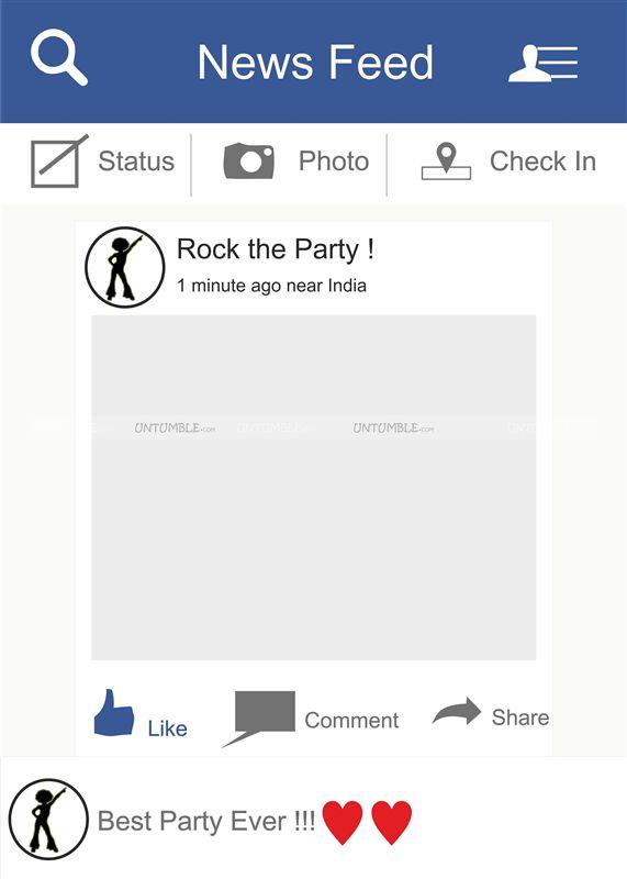 Black & White theme Facebook Photo Booth Frame - Untumble.com