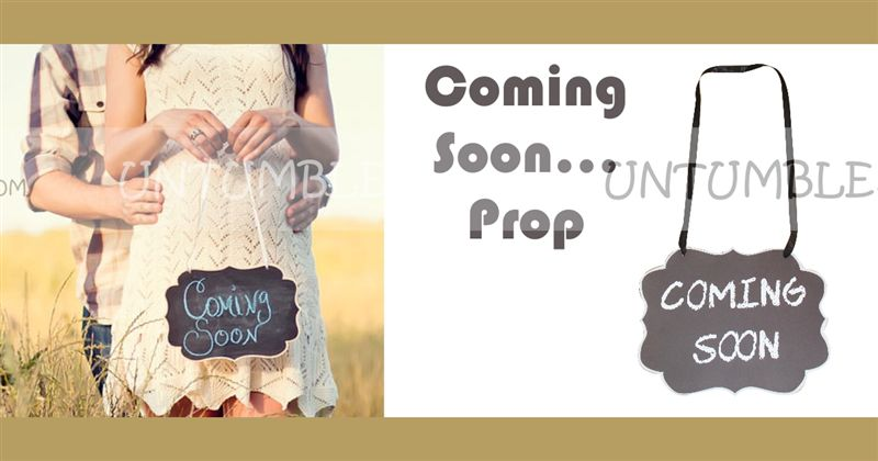 b0783697964d5 Maternity Props theme Coming Soon Hanging Board