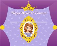 Backdrop - Sofia Princess Birthday Party Supplies