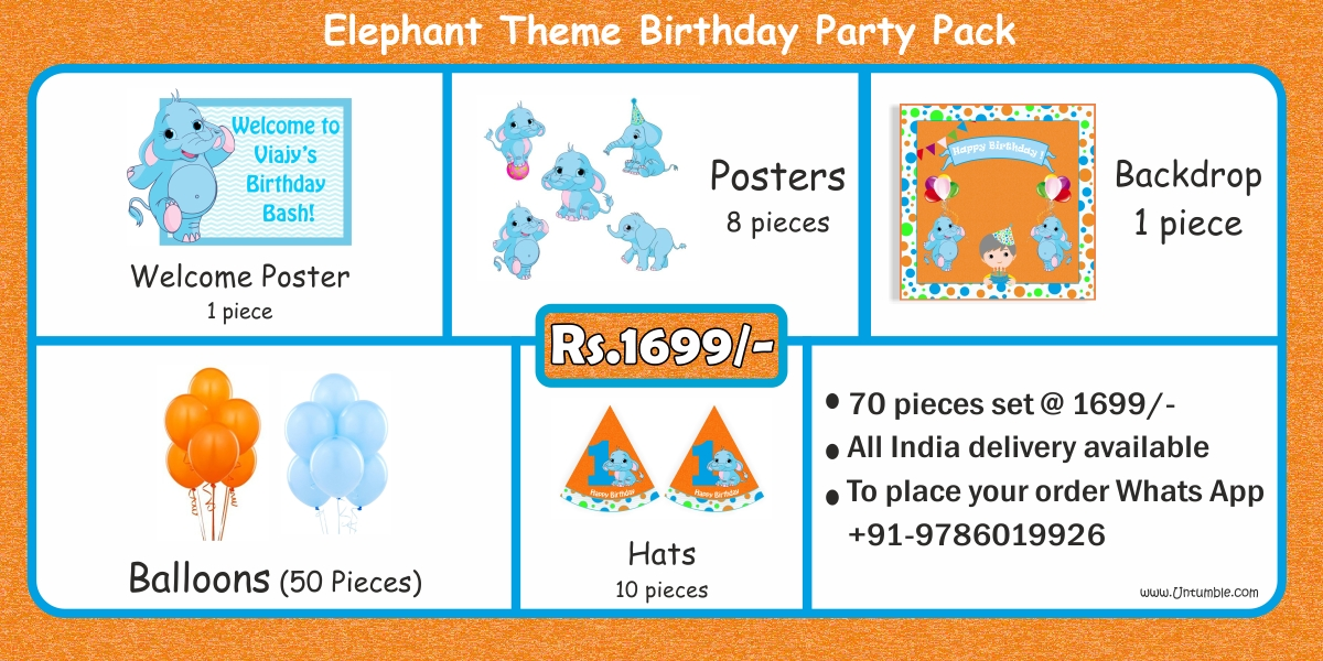 Baby Elephant Party Supplies party kits