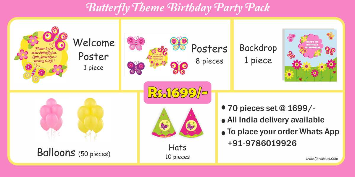 Butterfly Theme Birthday Party Decoration Supplies party kits