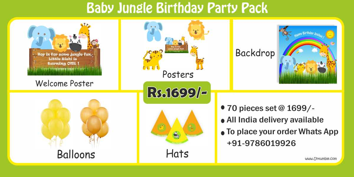 Jungle Themes Birthday Party Decoration & Supplies party kits