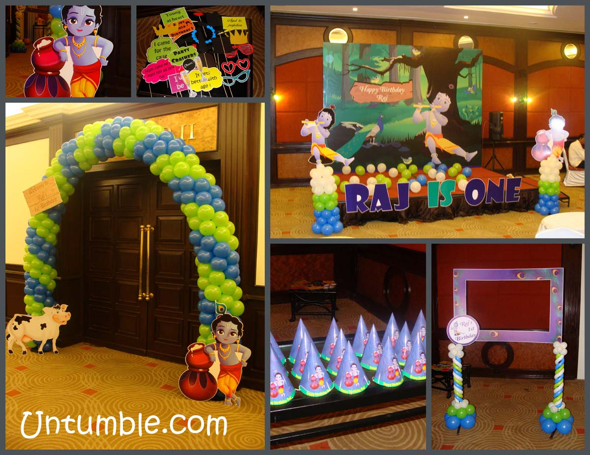 Krishna Theme Birthday Krishna Jayanthi Decoration Untumble