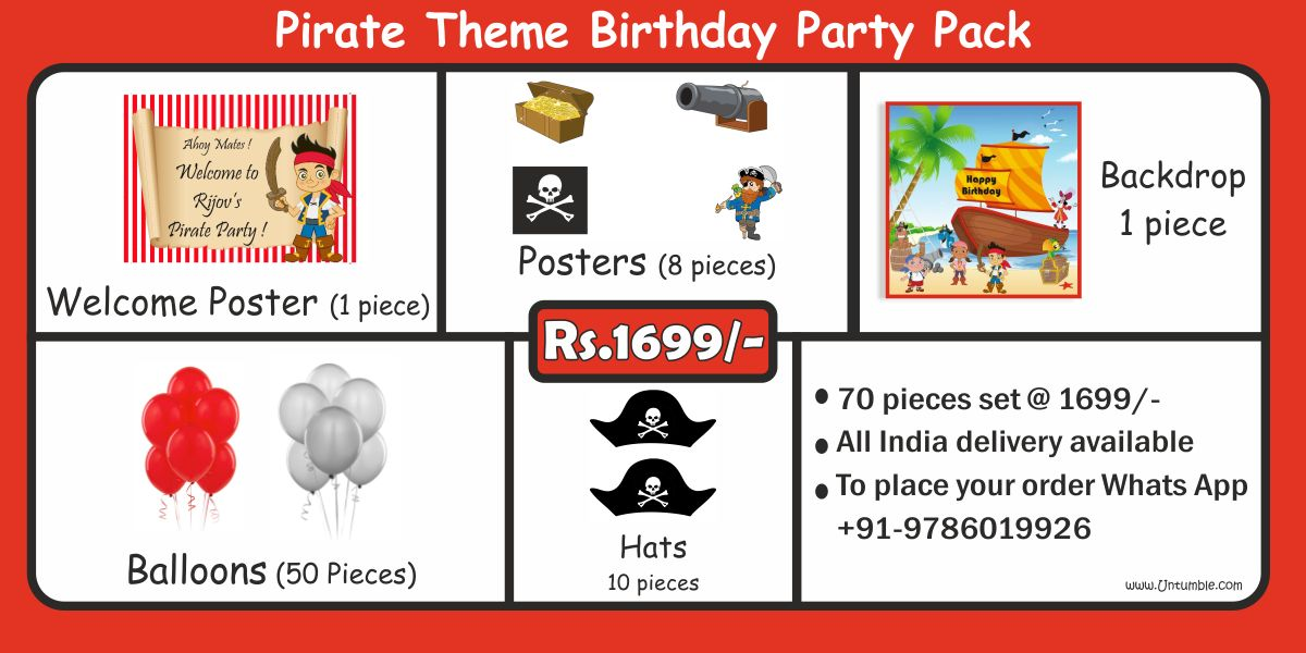 Pirate theme party supplies party kits