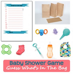 Guess what's in the bag - Baby shower games