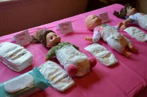 Blindfolded Diaper Changing - Baby shower games