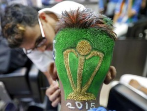 World Cup head carving