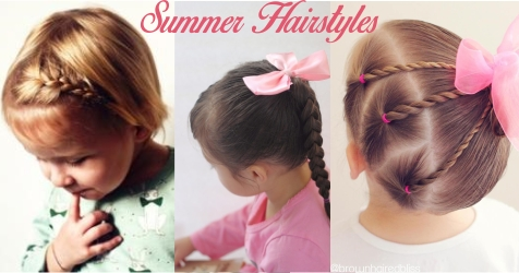 Easy And Classy Summer Hairstyles For Your Little One