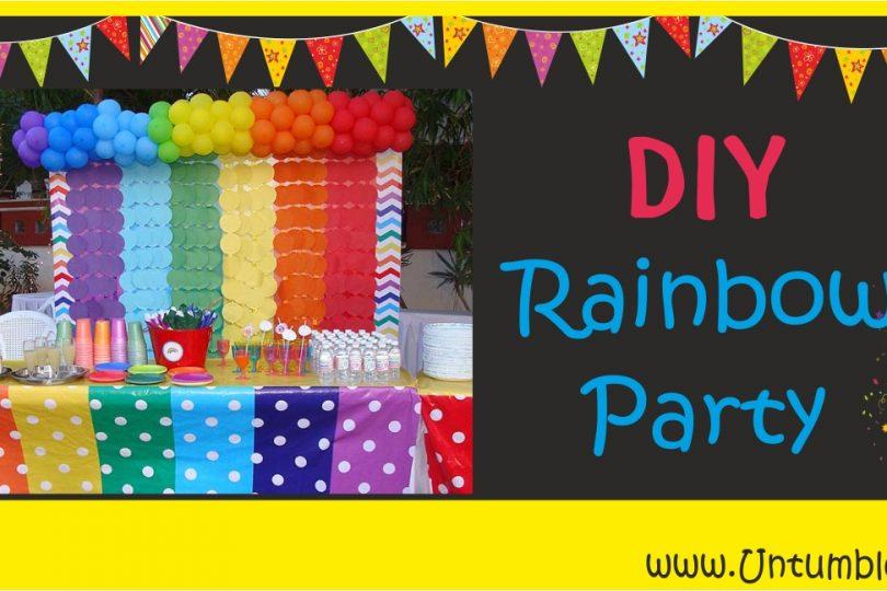 DIY Rainbow Theme Birthday Party Untumble Supplies Blog