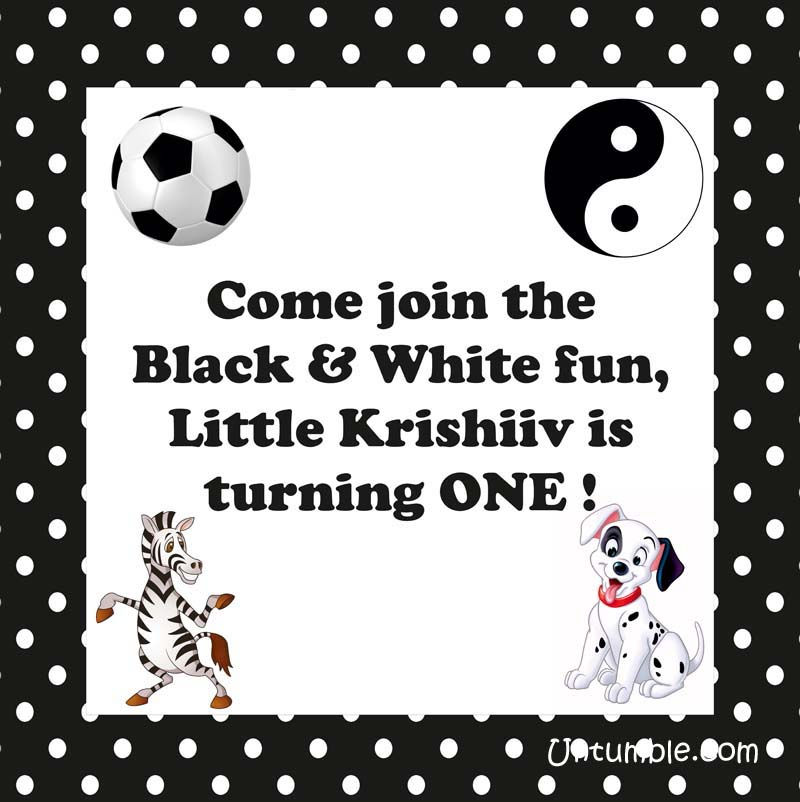 Black & White party supplies party kits