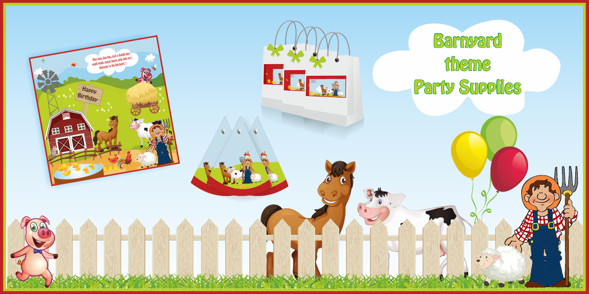 Top Barnyard Theme Birthday - Party Decoration Supplies party kits