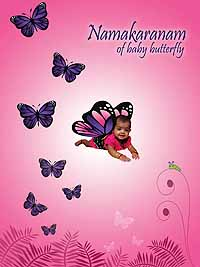 Backdrop butterfly for Baby namkaran decoration