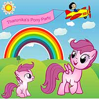 Pink Pony theme Backdrop