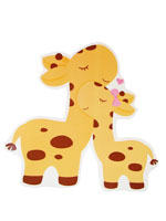 Baby Zoo theme Yellow baby and mummy Giraffe