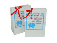 Baby Elephant theme Stickered gift bags