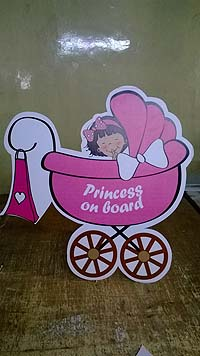 Princess on board - Pink Baby Shower