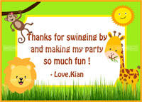 Baby Jungle theme Thank you cards