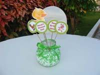 Duck on skewers with glass bowl centerpiece - Barnyard