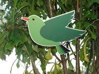 Green bird cutout - Barnyard