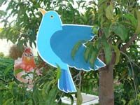 Blue bird cutout - Barnyard