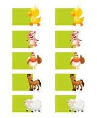 Barnyard animal shaped wish tree tags (Pack of 10) - Barnyard