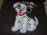 Black & White theme Dalmatian puppy poster