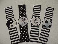 Black & White theme Wristbands