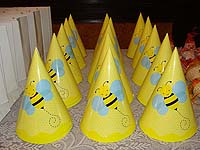 Bumble Bee theme Hats