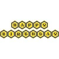 Bumble Bee theme Happy Birthday Bunting