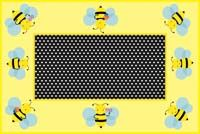Bumble Bee theme Rectangular table cover with small bees