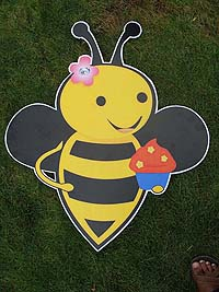 Bumble Bee theme Bee with cupcake poster
