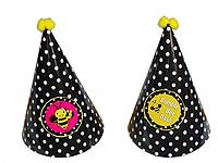 Bumble Bee theme Black patterned hats
