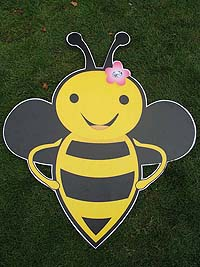 Bumble Bee theme Smiling bee poster