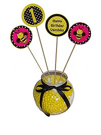 Bumble Bee theme Center pieces