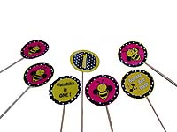 Bumble Bee theme Patterned cake toppers
