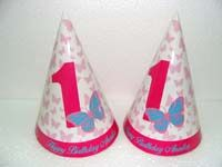 Hats - Pink Butterfly Birthday